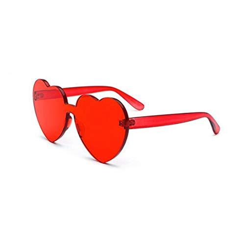 YIWU Brillen Koreanische Version Pink Love Randlose Sonnenbrille Weiblich Retro Net rote Herz Sonnenbrille Ins Hong Kong Flavour Brillen & Zubehör (Color : 2)