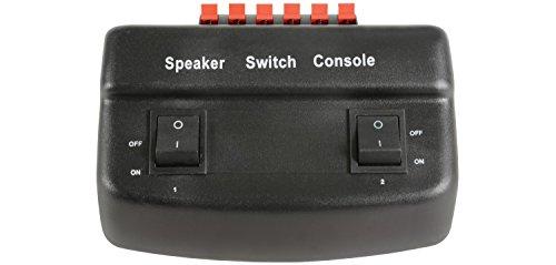 AV Link 128.559 - Selector de altavoces (50 W, 2 puertos), negro