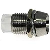 10 PORTALED 3mm PLASTICA CROMATA pannello porta led diodi holder fissaggio