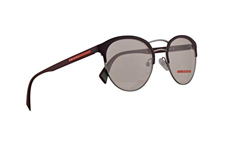 Prada PS52Hv Brillen 52-19-140 Gunmetal Gummi Bordeaux Mit Demonstrationsgläsern VHP1O1 VPS 52H PS 52Hv VPS52H