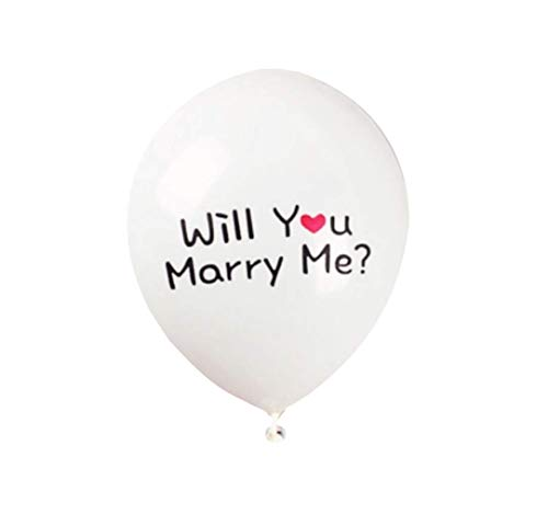 Repairmedia-shop - 10 palloncini in lattice con scritta will you marry me heirats, colore: bianco