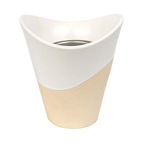 Yankee Candle Home Fragrance SCENTERPIECE Melt Cup Warmer, Keramik, Metall, weiß-beige, 18.5x16.5x16.5 cm (Yankee Candle Scenterpiece)