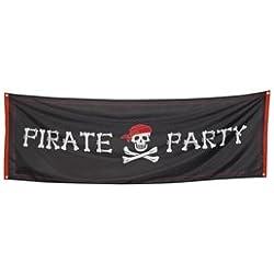 Bandera pirata para fiestas temáticas.