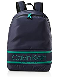 Calvin Klein Striped Logo Round Backpack - Mochilas Hombre