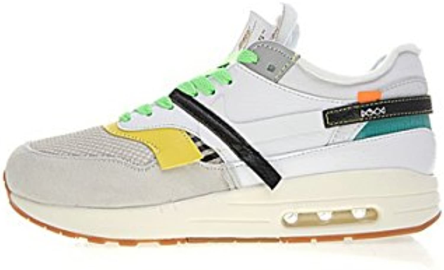 Air Max 1 Off White Custom by Bespoke Ind White Edition Laufschuhe Herren Damen