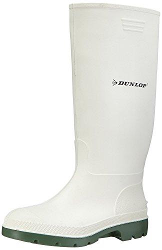 Dunlop Mens Pricemastor 380BV Wellington Snow Boot Slip On Footwear White/Green