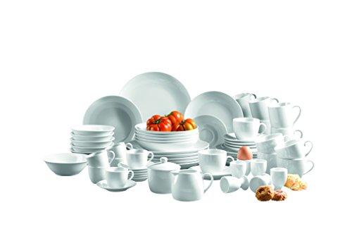 Mäser, Serie Alesia, Porzellan Kombiservice 62-teilig, Basic Geschirr für 6 Personen, das perfekte Starterset