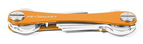 KeySmart Extended | Compacto Llavero y Organizador (2-8 Llaves, Naranja)