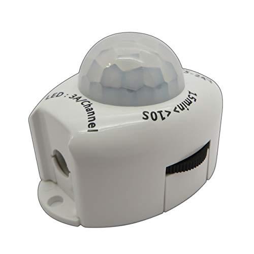 LED IR Bewegungsmelder 12V DC Bewegungssensor Bewegung PIR Sensor für LED Streifen/Leuchtmittel 12V 4A - PB-Versand® (mit Hohlsteckeranschluss) Pir-sensor Bewegungsmelder