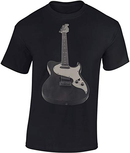 Camiseta: Guitarra - Electric Guitar - Guitarrista - Band-a - Grupo - Música Music-al - T-Shirt Hombre-s y Mujer-es - Fan - Rock - Heavy Metal - Bajo eléctrica - Concierto Festival Show (Negro XXL)