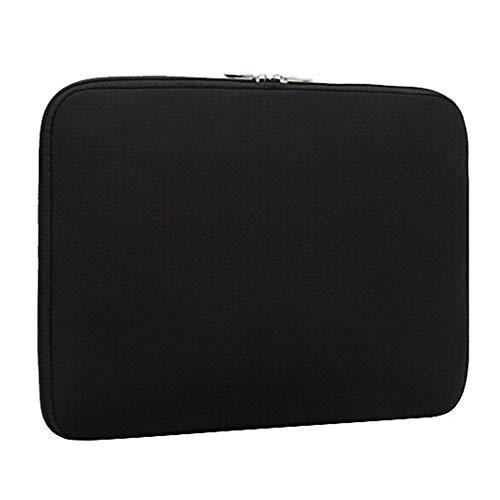 12 Zoll Notebook Hülle Sleeve Tasche mit Griffen/Zubehörtasche für 12 Zoll Laptop/Ultrabook/Notebook/Netbook/MacBook,Schwarz