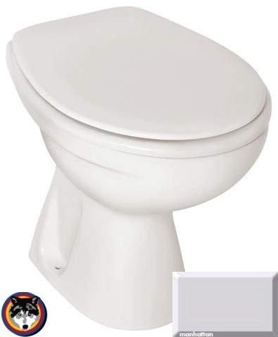 Gustavsberg Saval Stand WC Tiefspüler Farbe manhattan + WC SItz