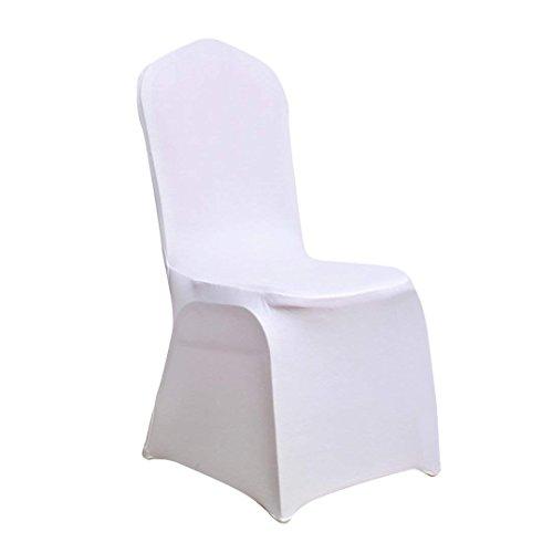 Banquet Chair Covers-Juego de 20piezas de color blanco fundas para respaldo de...