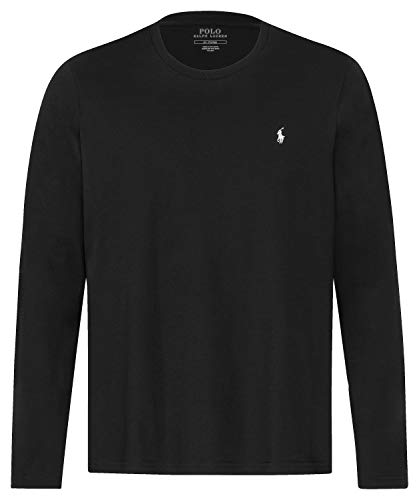 Polo Ralph Lauren Longsleeve Crew Neck Shirt Langarm Shirt Sleep Top L Black (001)