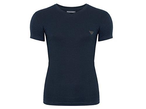 Emporio Armani T-shirt Top (Emporio Armani Herren T-Shirt mit V-Ausschnitt 7A512 (M, 00135 Marine))