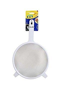Zodiaque Passoire en plastique avec mailles en acier inoxydable maille 21 cm Blanc