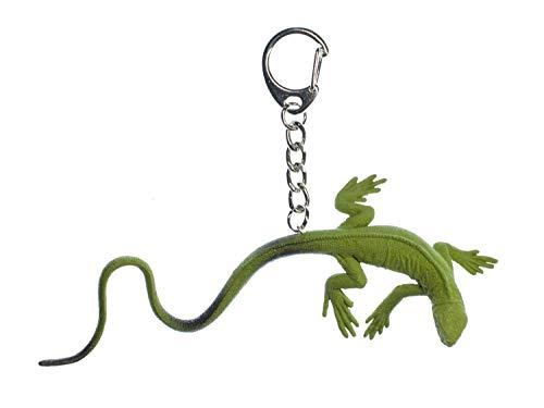 Miniblings Waran Schlüsselanhänger Anhänger Schlüsselring Echse Gecko grün