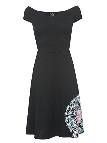 Pussy Deluxe Dandelion Dream Off Shoulder Dress Kleid schwarz S