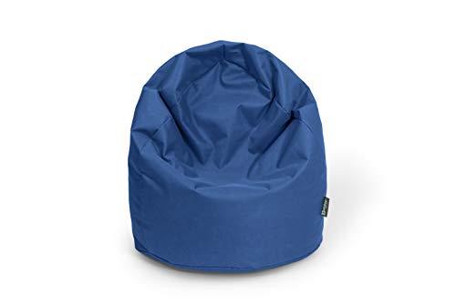 BuBiBag Sitzsack Birne Größe L Füllmenge ca. 300L Indoor und Outdoor (dunkelblau/Marine)