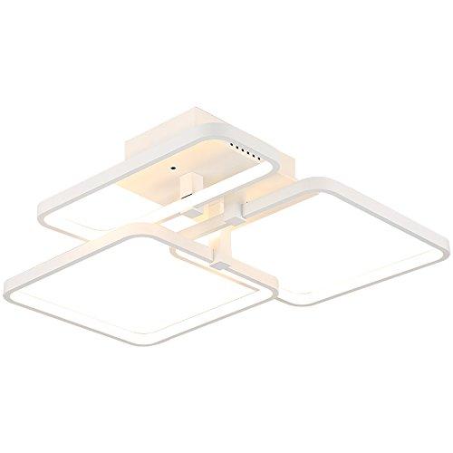 LED Deckenleuchte XW007_3 weiße Rahmen mit Fernbedienung Lichtfarbe/Helligkeit einstellbar dimmbar warmweiß kaltweiß A+