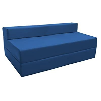 Ready Steady Bed Fold-Out Water Resistant Z Bed Sofa, Blue - low-cost UK sofabed store.