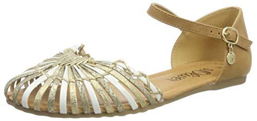 s.Oliver Damen 5-5-28122-32 952 Slingback Ballerinas, Gold Comb, 40 EU