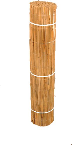 HR Schilfmatte de Luxe 1,0m x 3,0m Schilfrohrmatte Sichtschutzmatte Sichtschutz Premium