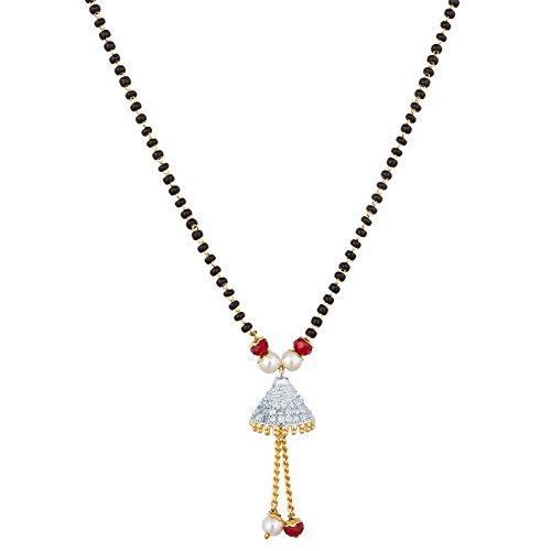 The Luxor Regular Wear Australian Diamond Studded Mangalsutra For Women