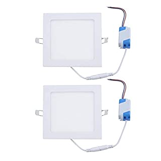 2 Sets 195MM 85-265V 15W Super Bright LED Flat Panel Ultra Thin Panel Lamps For Shopping Mall Commercial Areas Lighting