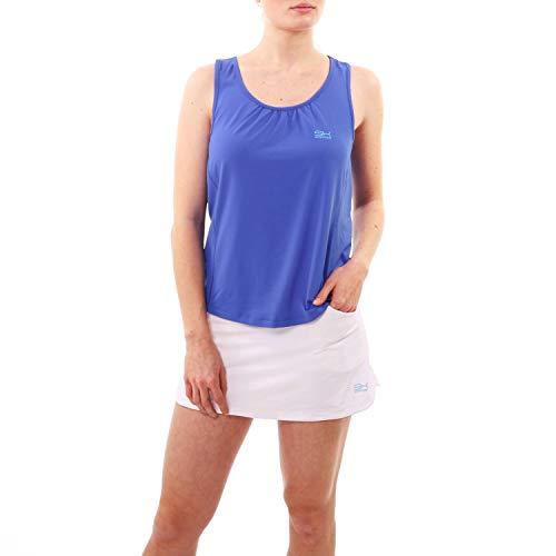Sportkind Mädchen & Damen Tennis, Fitness, Running Loose Fit Tanktop, Kornblumen blau, Gr. 152