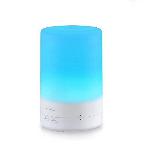Diffuseur d'huiles essentielles, Patuoxun 180 ml Ordinateur Portable Mini Cool Mist Aroma Humidificateur à Ultrasons Avec 7 couleurs LED changeantes Pour Home Office