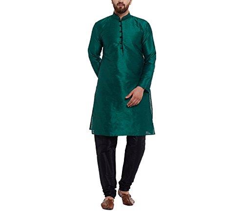 Sojanya (Since 1958) Men's Dupion Silk Kurta & Churidaar Pyjama