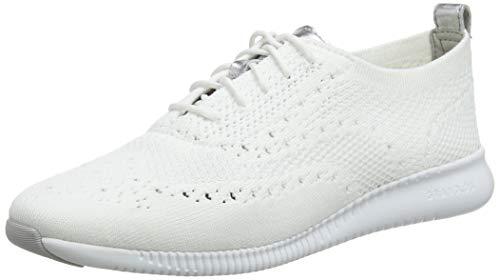 Cole Haan Damen 2.Zerogrand Stitchlite Oxfords, Weiß Knit/Ch Argento Metallic/Optic White Opt Kt/Arg/Wht, 38 EU (Cole Haan Frauen Schuhe)