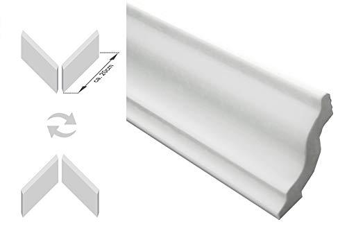 40 Meter Stuckleisten Eckprofil Zierleiste Polystyrol Stuck 95x100mm DX100