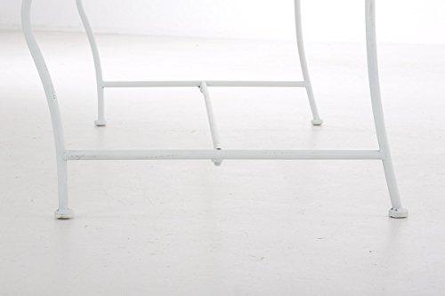 CLP Gartenbank RIKE im Landhausstil, aus lackiertem Eisen, 136 x 59 cm – aus bis zu 6 Farben wählen Weiß - 8
