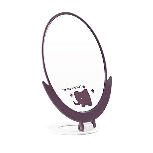 Bureau Miroir Maquillage Miroir Bureau Grand Ovale Unique Princesse Miroir Coiffeuse Miroir Table Miroir Pliable Dortoir Haute Définition Miroir Simple et Pratique (14.5 * 8.5 * 19.5 cm) Xuan - worth having