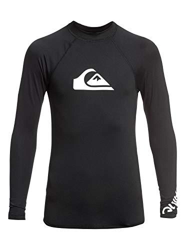 Quiksilver Jungen All Time L/sl Surf Tee, Black, S/10 - 10 Langarm T-shirt