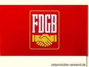 Papierfahne FDGB Winkelement   Ossi Produkte   für Ostalgiker   DDR Geschenke - Münzen Seltene Buch