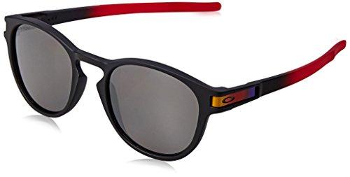Oakley Herren Latch 926526 53 Sonnenbrille, Rot (Ruby Fade/Prizmblackpolarized),