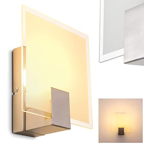 Wandleuchte mit Schalter - Wand Lampe aus Glas mit E14-Fassung - Leselampe Wand - Wandleuchte Schlafzimmer - moderne Küchen Wandlampe