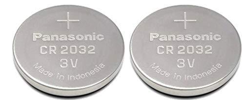 10x Panasonic Litio Batería Botón 3V CR2032, KCR2032, DL2032, - Pila de botón de litio CR2032 3V - Embalaje en blíster - Diámetro 20 mm - Altura: 3,2 mm, peso: 3g - Vida útil: min. 5 años