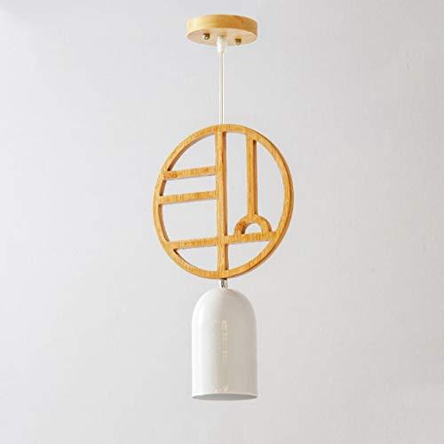 FFVVBBHH Kronleuchter,Nordic Restaurant Kronleuchter Creative Log Single Head Kronleuchter (18cm * 16cm) (Farbe : B-Warmes Licht) -