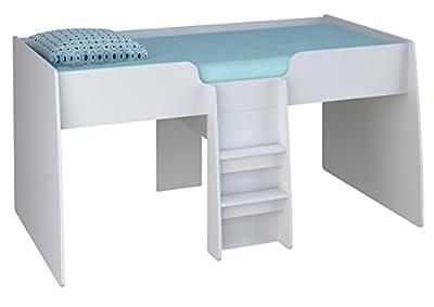 Kidsaw Ltd Loft Station Cabin Bed Frame White, Wood, 195 x 110 x 98 cm