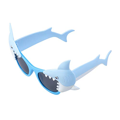 Shark Papier Brille Maske Foto Booth Props für Kinder Geburtstagsparty Dekoration Photobooth Requisiten Kinder Spielzeug ()