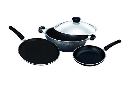Surya Accent Cookware Set, 4 Pieces, Black
