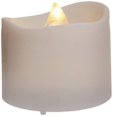 Homemory Realistic and Bright Flickering Battery Operated Flameless LED Tea Light, Pack of 12, 1.4x1.25 Inch, Electric Fake Candle in Warm White and Wave Open. by Global Selection