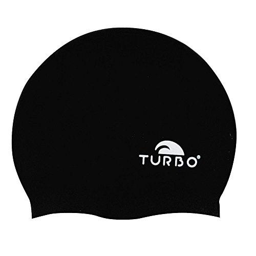TURBO Badekappe schwarz aus Silikon Einheitsgröße