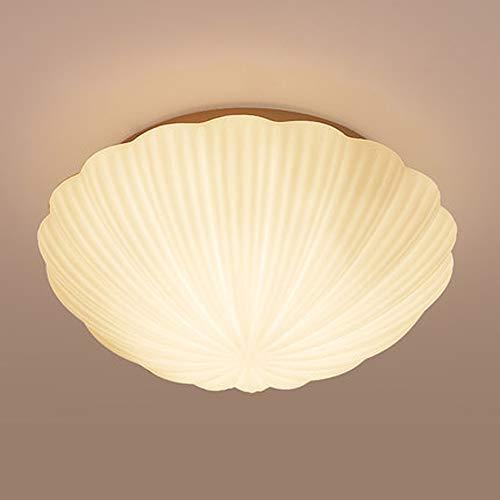 LCNINGXDD Moderne Glas Deckenleuchte Unterputz Zeitgenössische Led Dimmable Kreative Muschel Kronleuchter für Wohnzimmer Schlafzimmer Flur (Farbe : Weißes Licht, größe : 28cm-12W)
