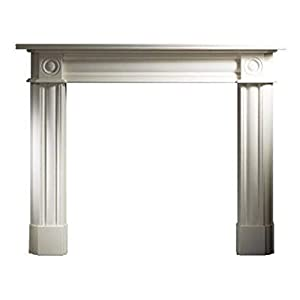 """Chiswick White Stone Gas Electric Wall Fire Fireplace Suite Surround Limestone 56"""""""