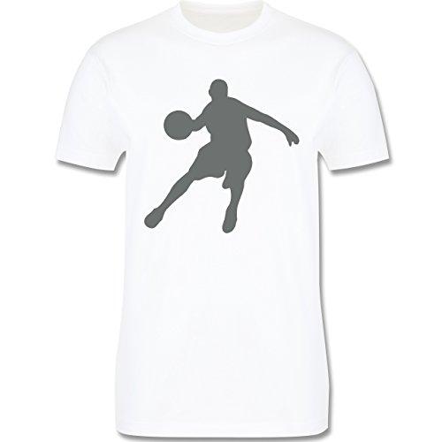 Basketball - Basketballspieler - Herren Premium T-Shirt Weiß